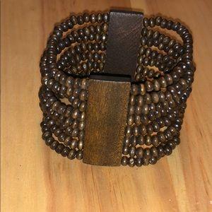 Brown elastic bracelet